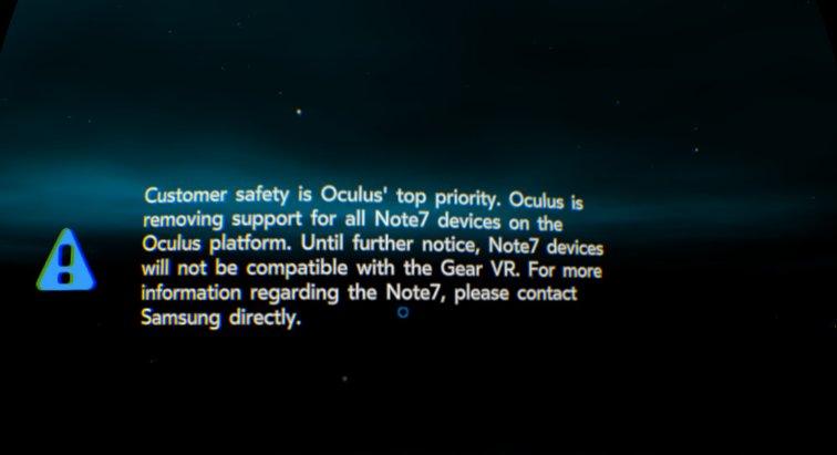 Kein Gear VR mehr für das Note 7