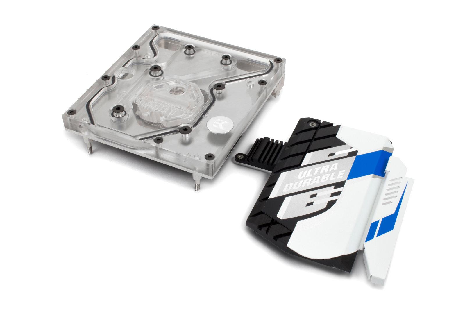 EK-FB GA X99 Designare Monoblock – Nickel mit Chipsatz-Kühler