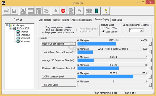 960 Pro 2 TB: 550.000 IOPS bei 4K random read