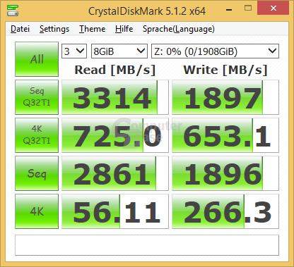960 Pro 2 TB im M.2/PCIe-Adapter
