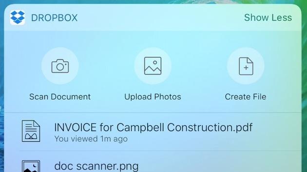 Dropbox: iOS-10-App mit neuen Funktionen für die Arbeit