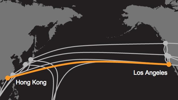 Von L.A. nach Hongkong: Google und Facebook verlegen 120-Terabit-Unterseekabel