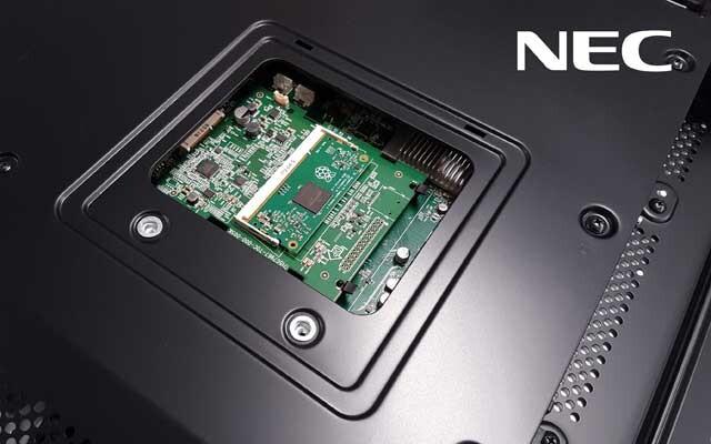 NEC-Monitore mit integriertem Raspberry Pi