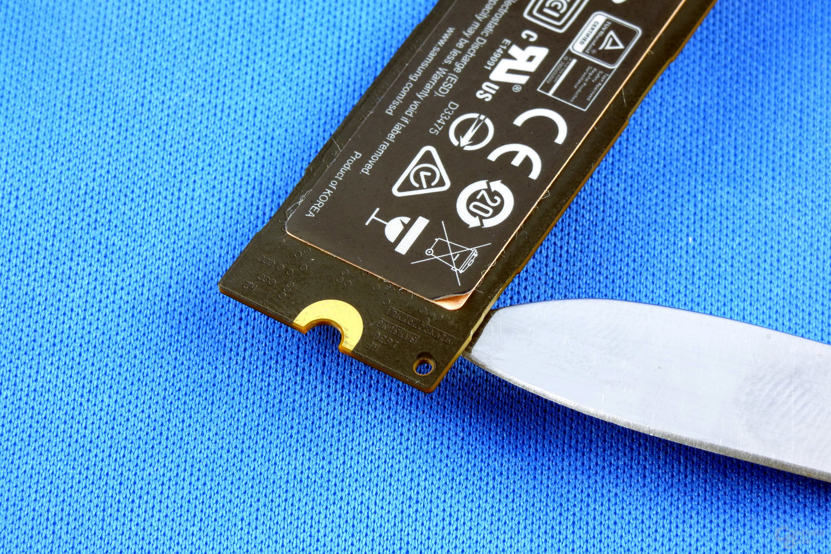 Samsung 960 Pro: Kupfer im Aufkleber