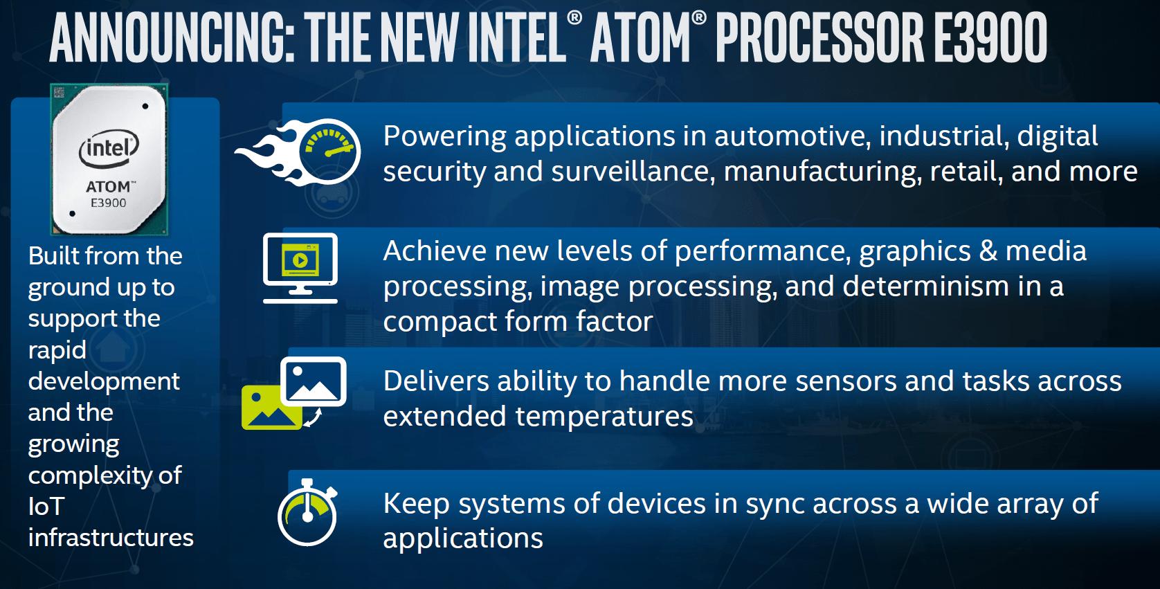 Atom E3900 für das Internet of Things