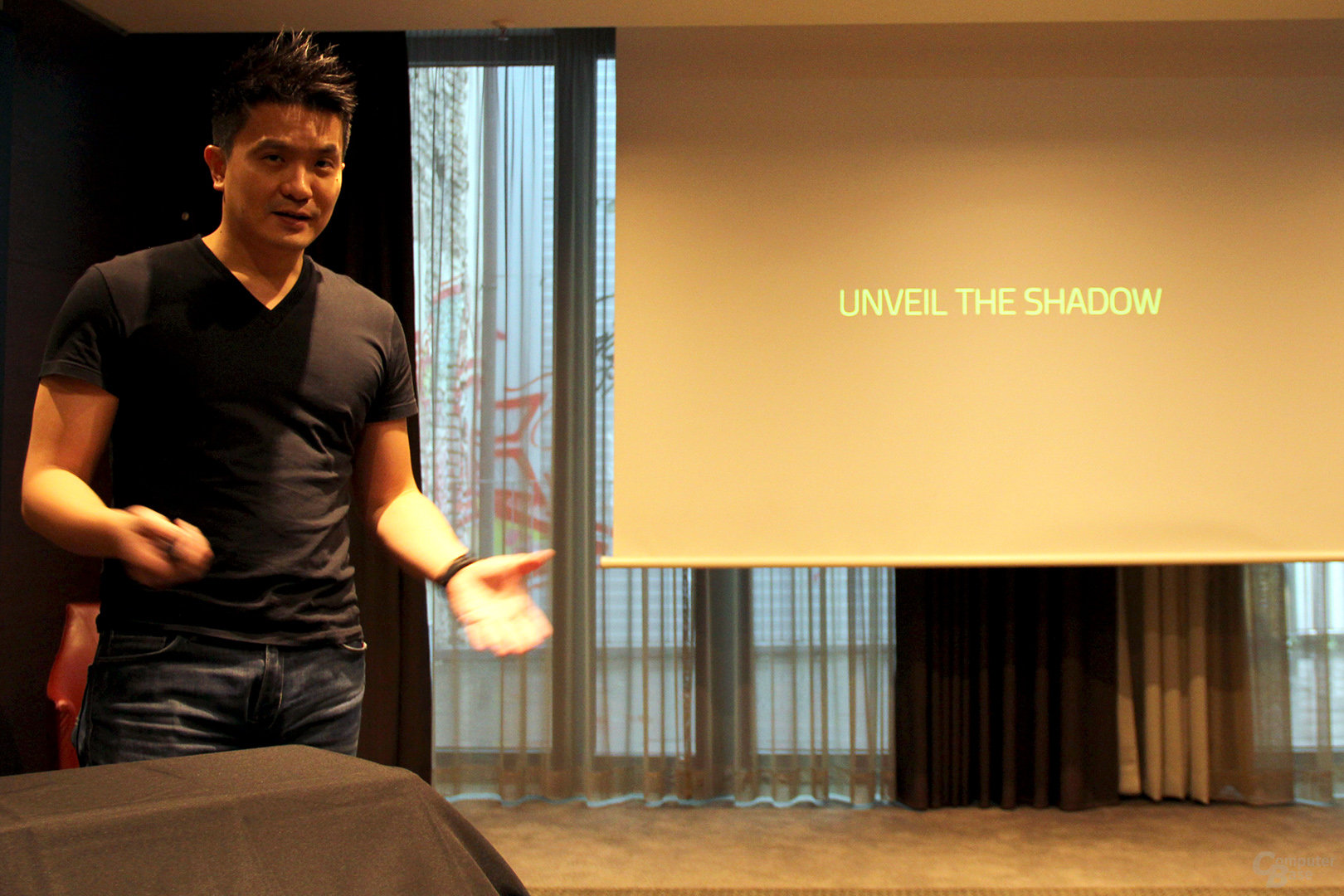 Min-Liang Tan stellt neue Razer Notebooks in Berlin vor