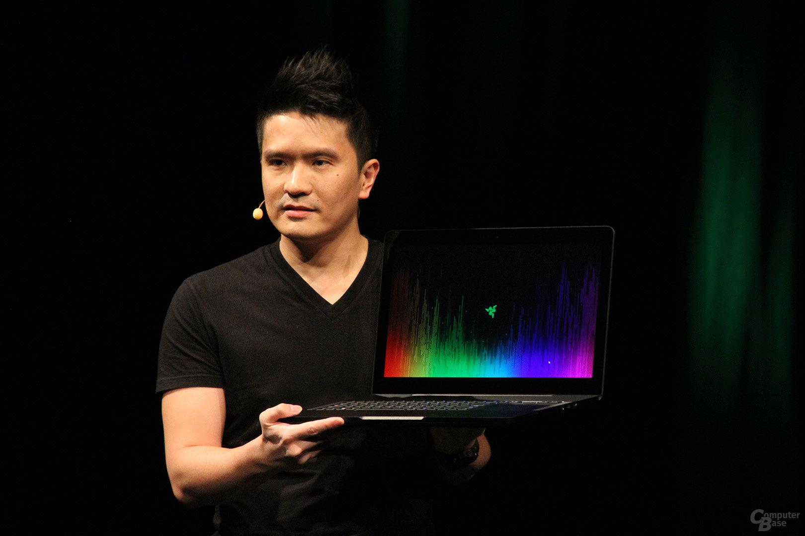 Min-Liang Tan mit Razer Blade Pro