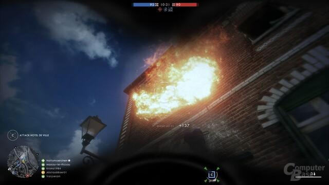 Im Häuserkampf erzielt der Flammenwerfer gute Ergebnisse