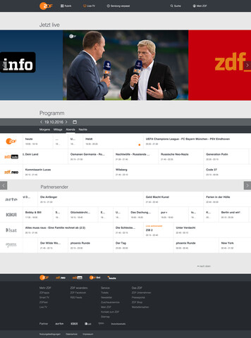 Livestreams in der ZDFmediathek