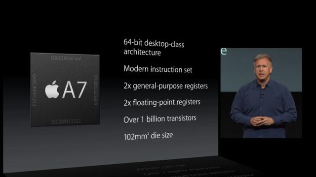 Phil Schiller stellt das A7-SoC des iPhone 5s vor