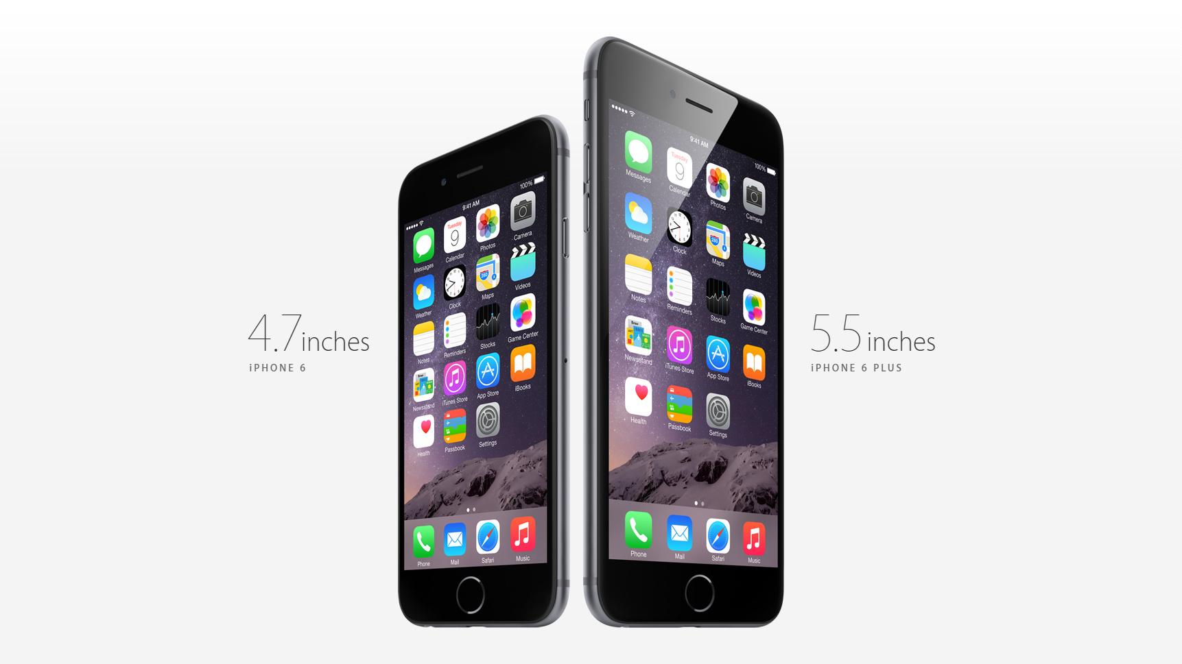 iPhone 6 und iPhone 6 Plus waren größer als je ein iPhone zuvor