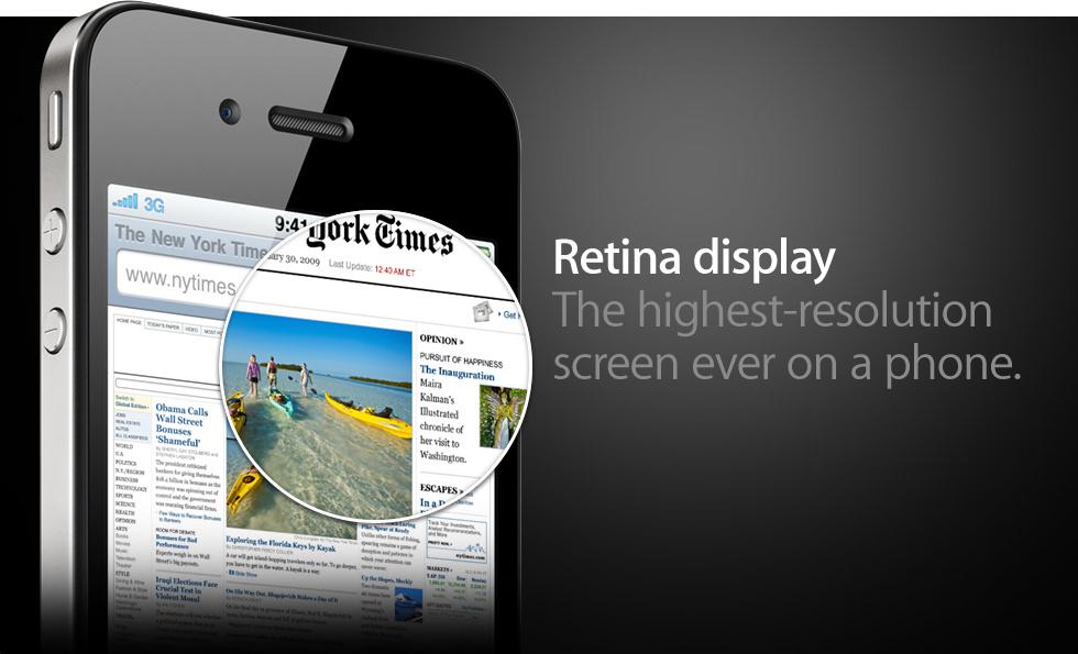 Neben dem Design war die große Neuheit das Retina Display