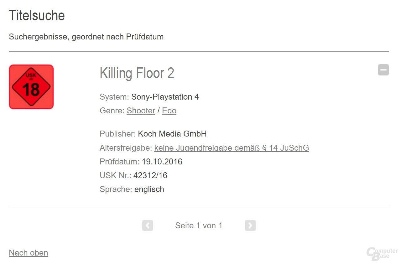 """Killing Floor 2 wird """"ab 18 Jahren"""" freigegeben"""
