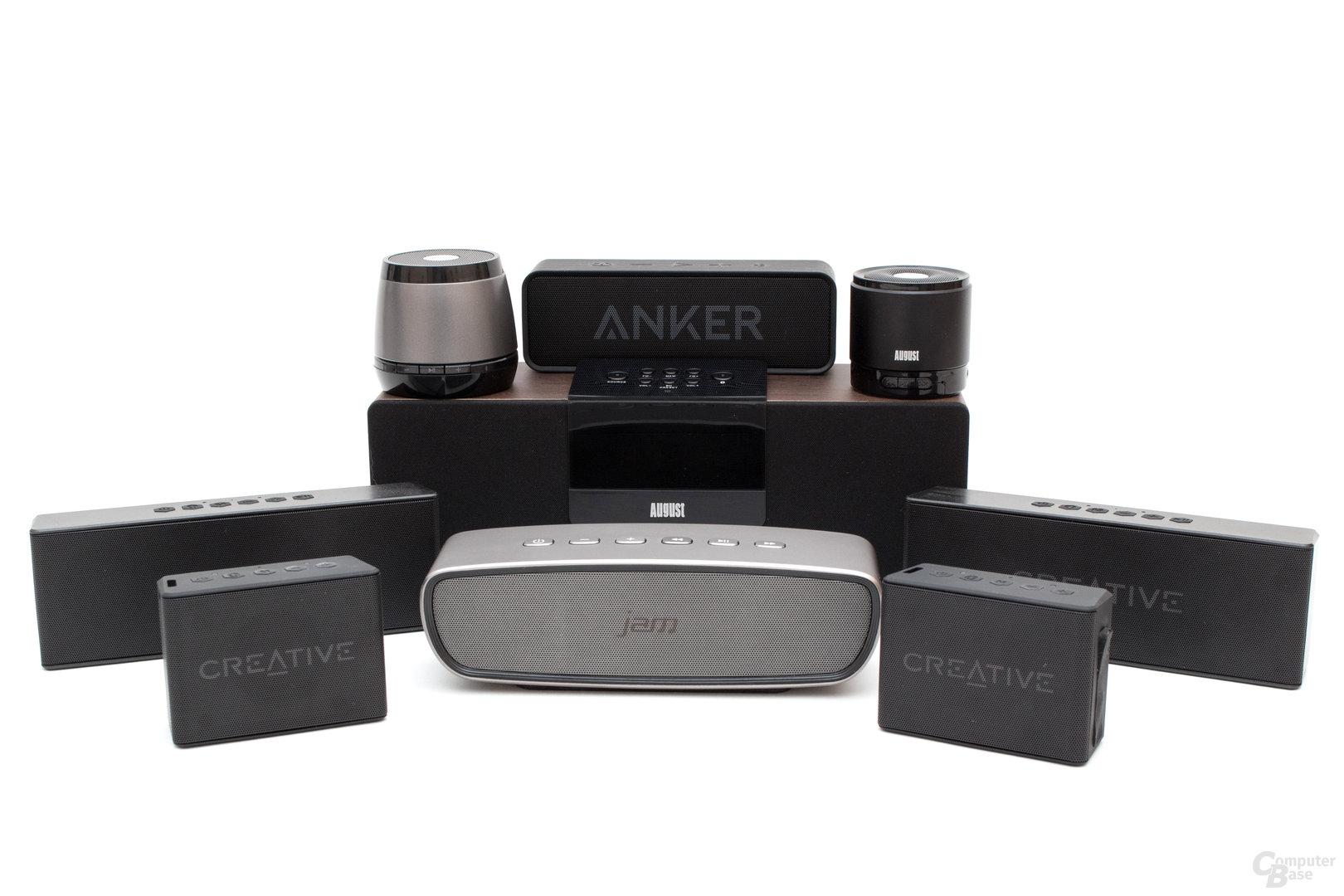 Bluetooth-Lautsprecher im Test – Sieben Vertreter für jeden Geldbeutel