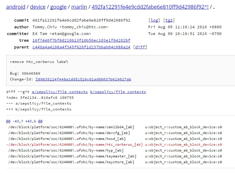 Quellcode des Google Pixel