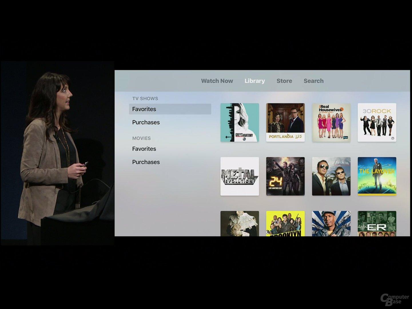 TV App: Library