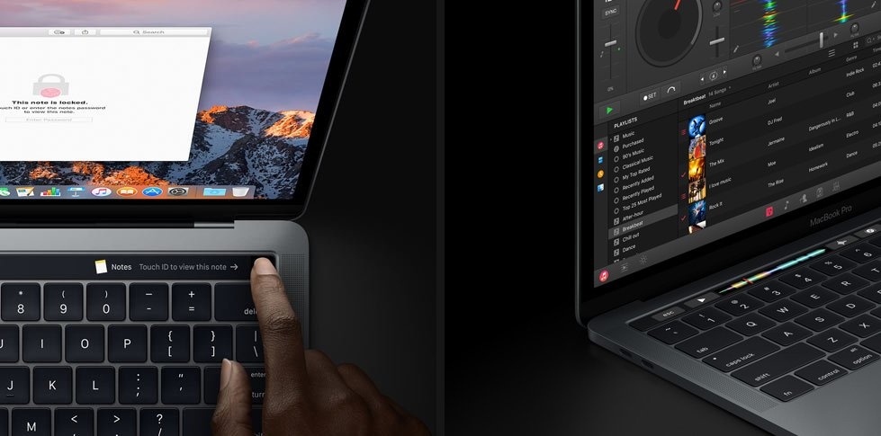 Die neue Touch Bar mit Touch ID