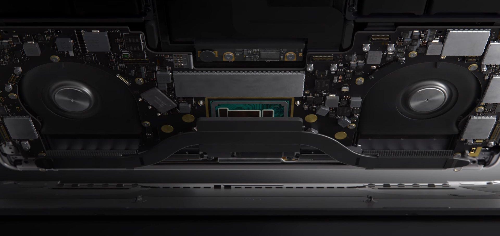 Innenaufbau des MacBook Pro 13 Zoll mit Touch Bar