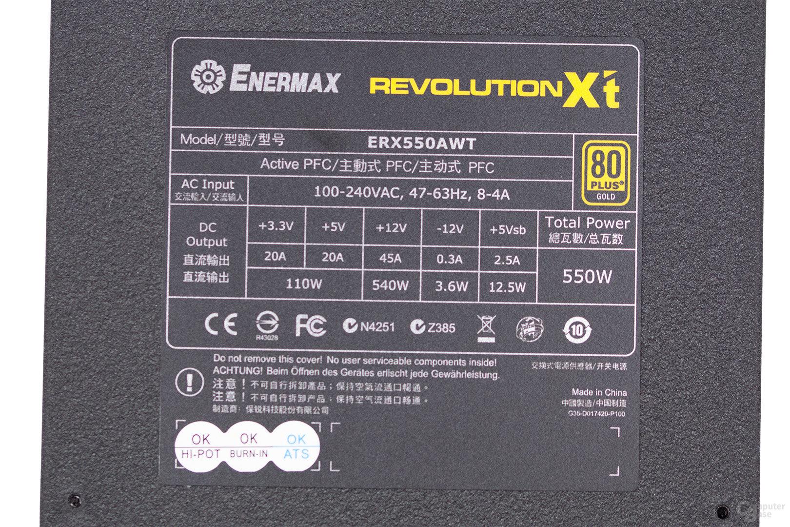 Enermax Revolution X't II 550W