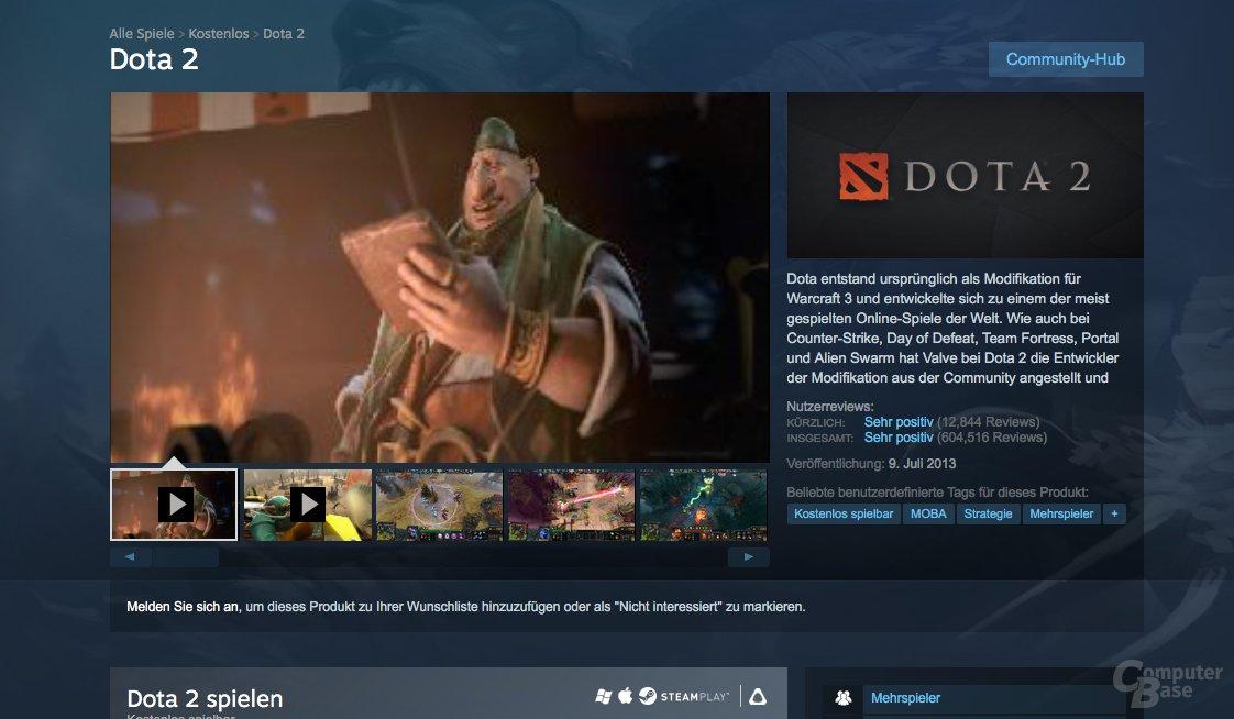 Valve zeigt bei Dota 2 jetzt echte Screenshots