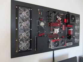 Wenn ein Gehäuse zu langweilig ist, kann der PC auch eine Wand dekorieren