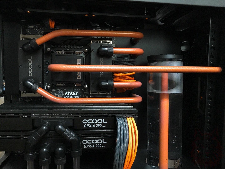 Hier ändern die Rohre dank Thermolack unter Last die Farbe