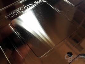 Unterseite eines vernickelten GPU-Kühlers