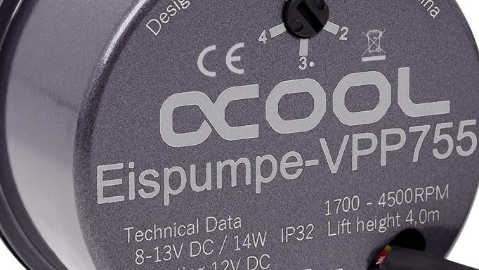 Alphacool Eispumpe VPP755: Leisere und stärkere Pumpe auf Basis der Laing D5