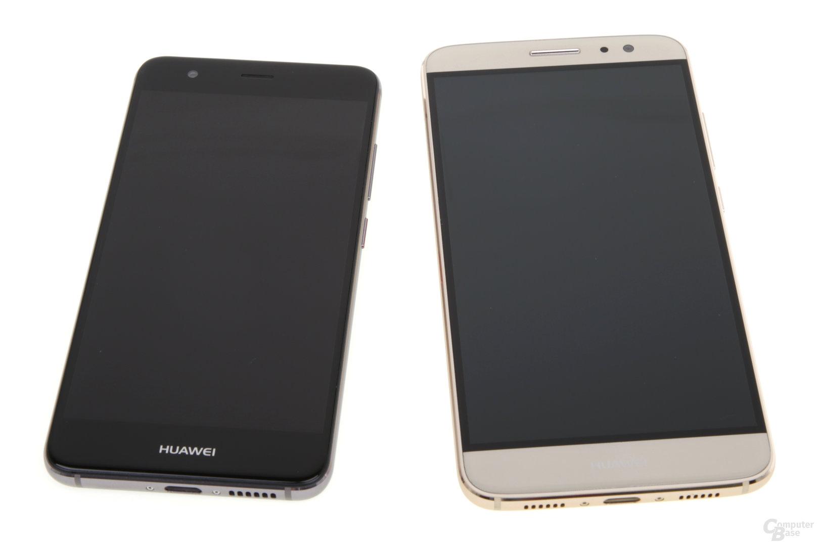 Huawei-Schriftzug kaum erkennbar auf dem Nova Plus