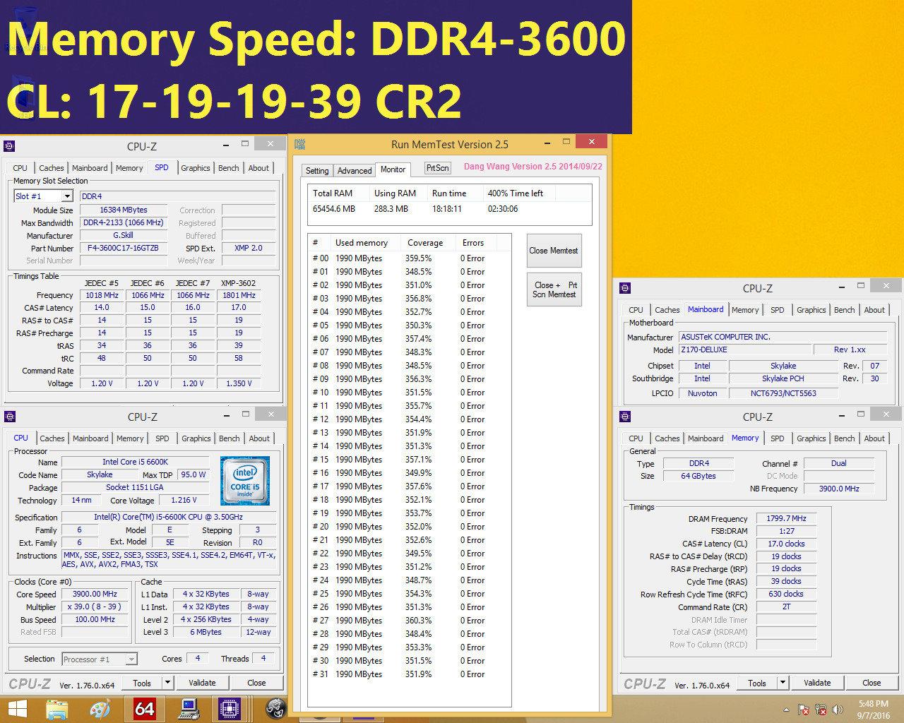 DDR4-3.600-Kits mit 64 GByte