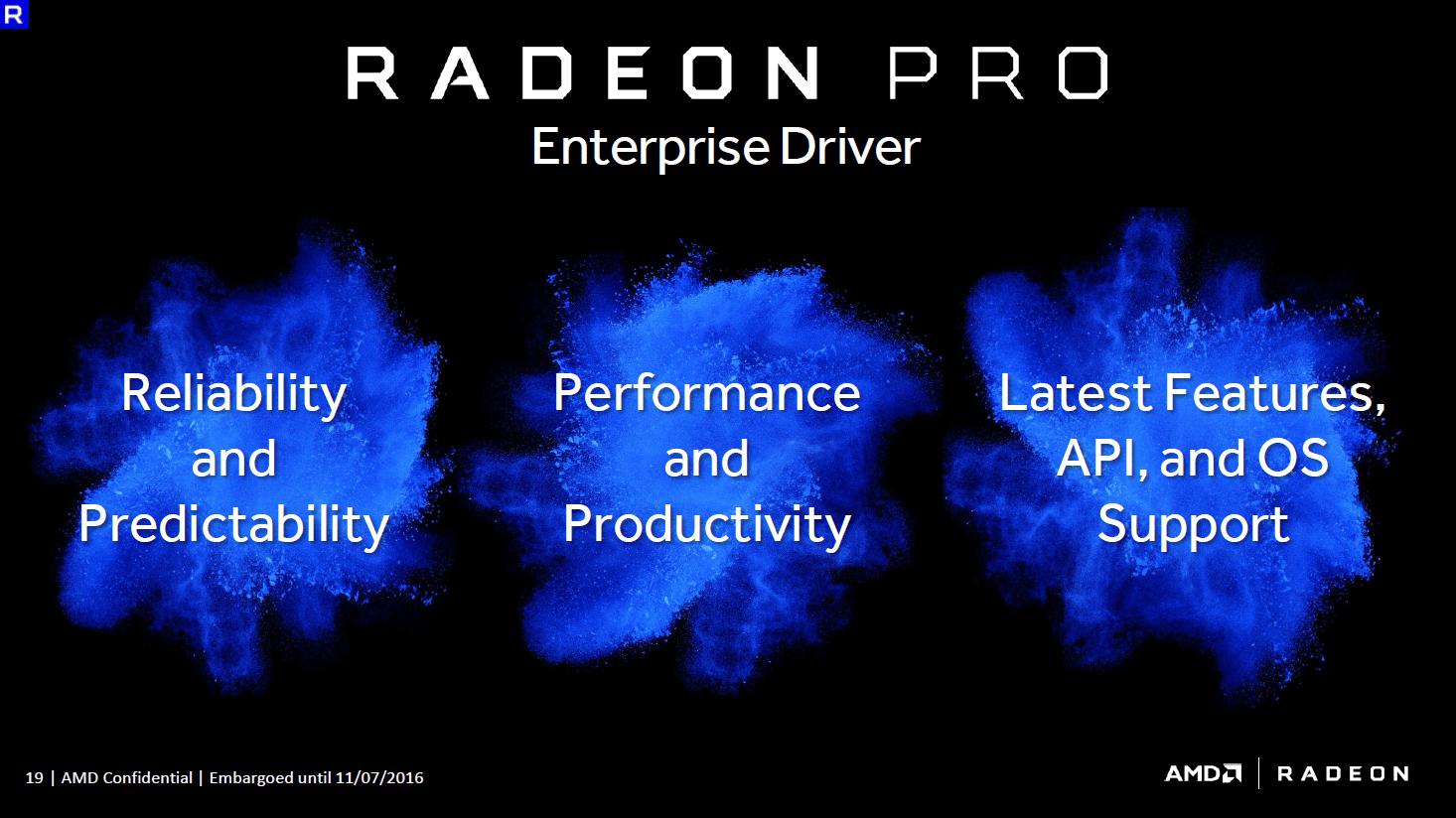 AMD Radeon WX 4100, WX 5100 und WX 7100