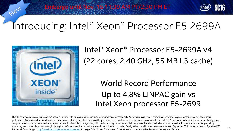 Xeon E5 2699A
