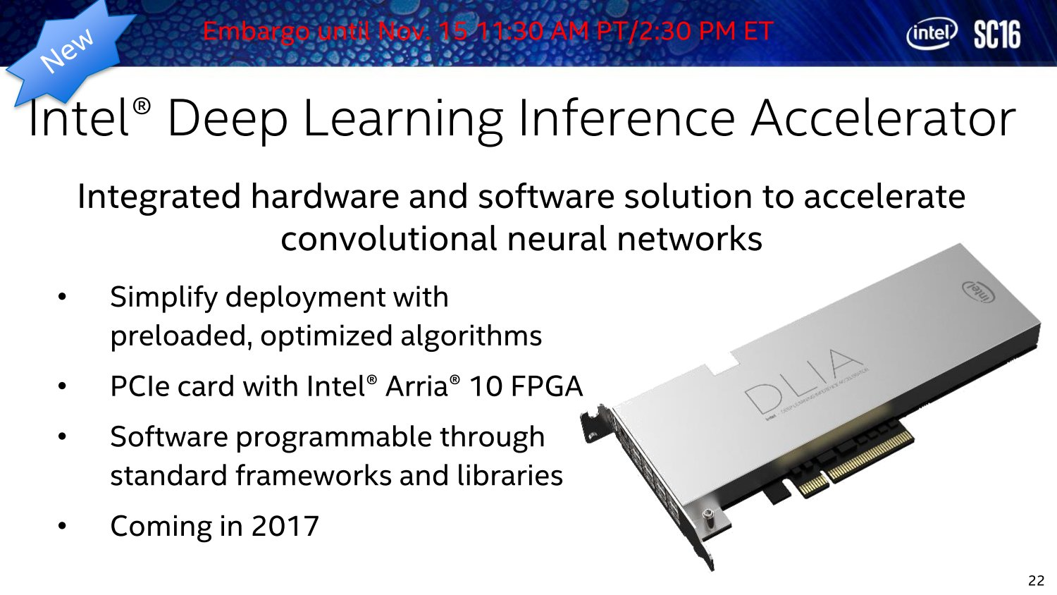 Deep Learning Inference Accelerator