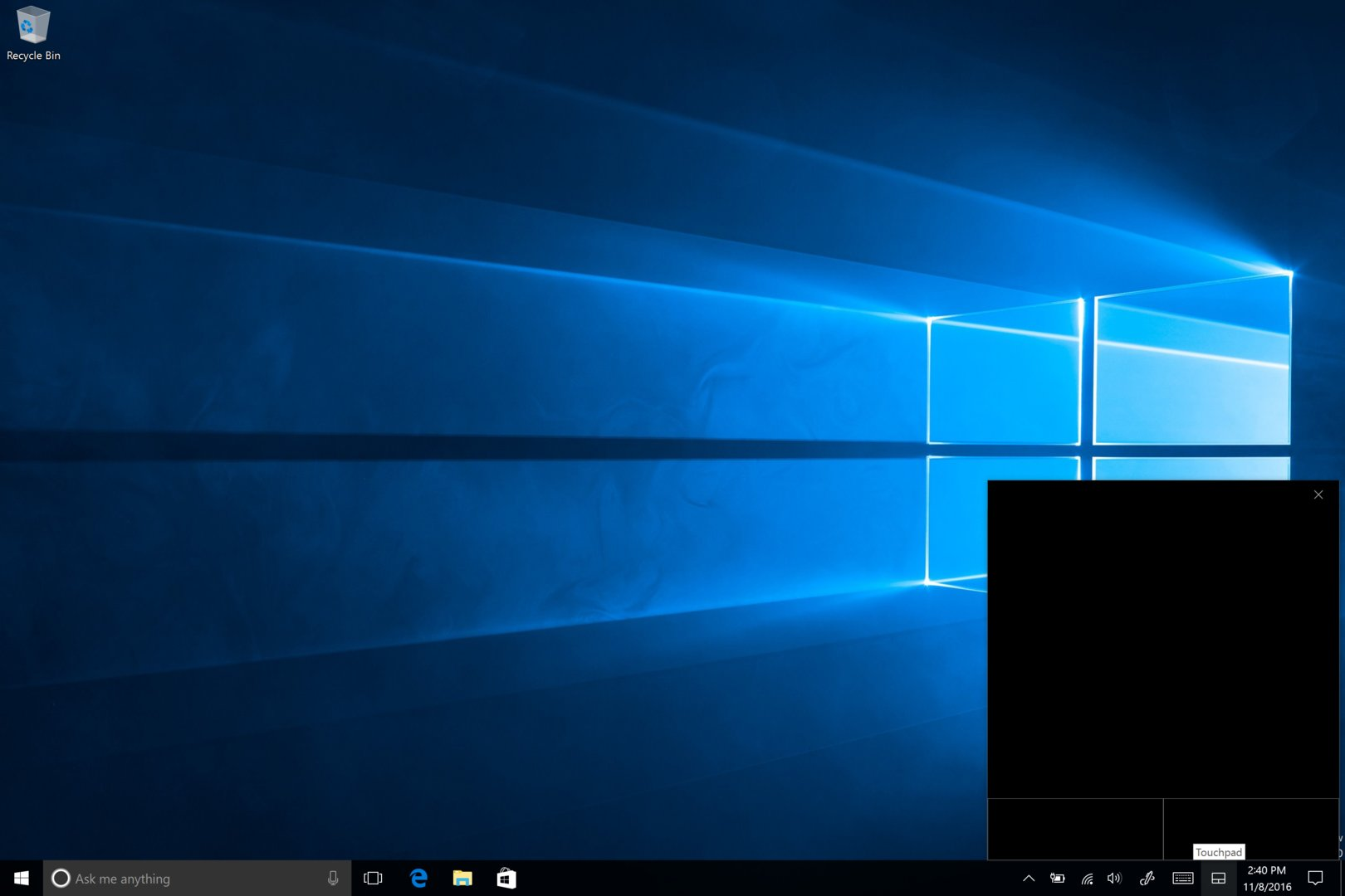 Virtuelles Touchpad unter Windows 10 Build 14965