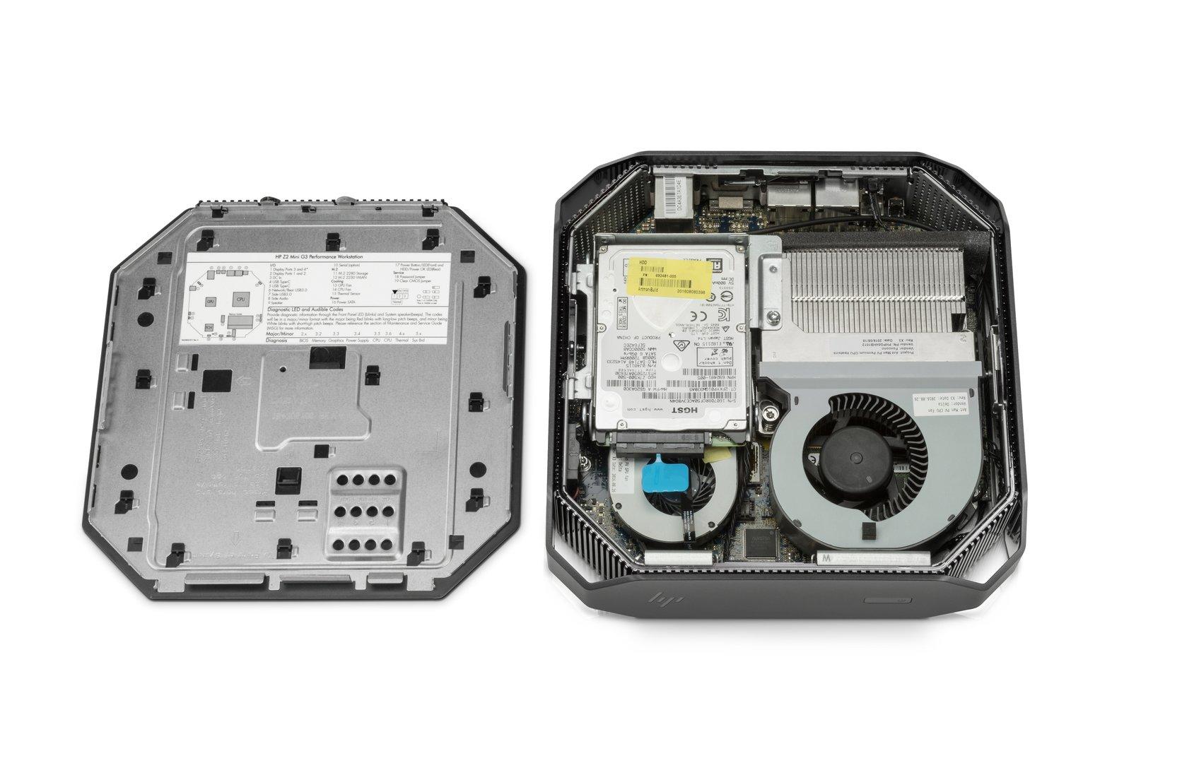 Zwei Radiallüfter kühlen die verbaute Hardware