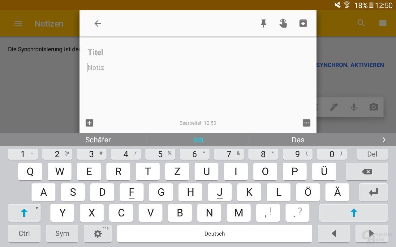 System-Tastatur Galaxy Tab A 2016