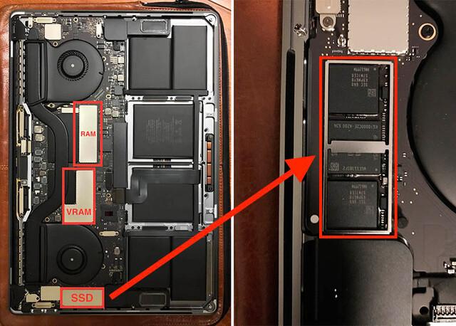 Die SSD sitzt direkt auf dem PCB
