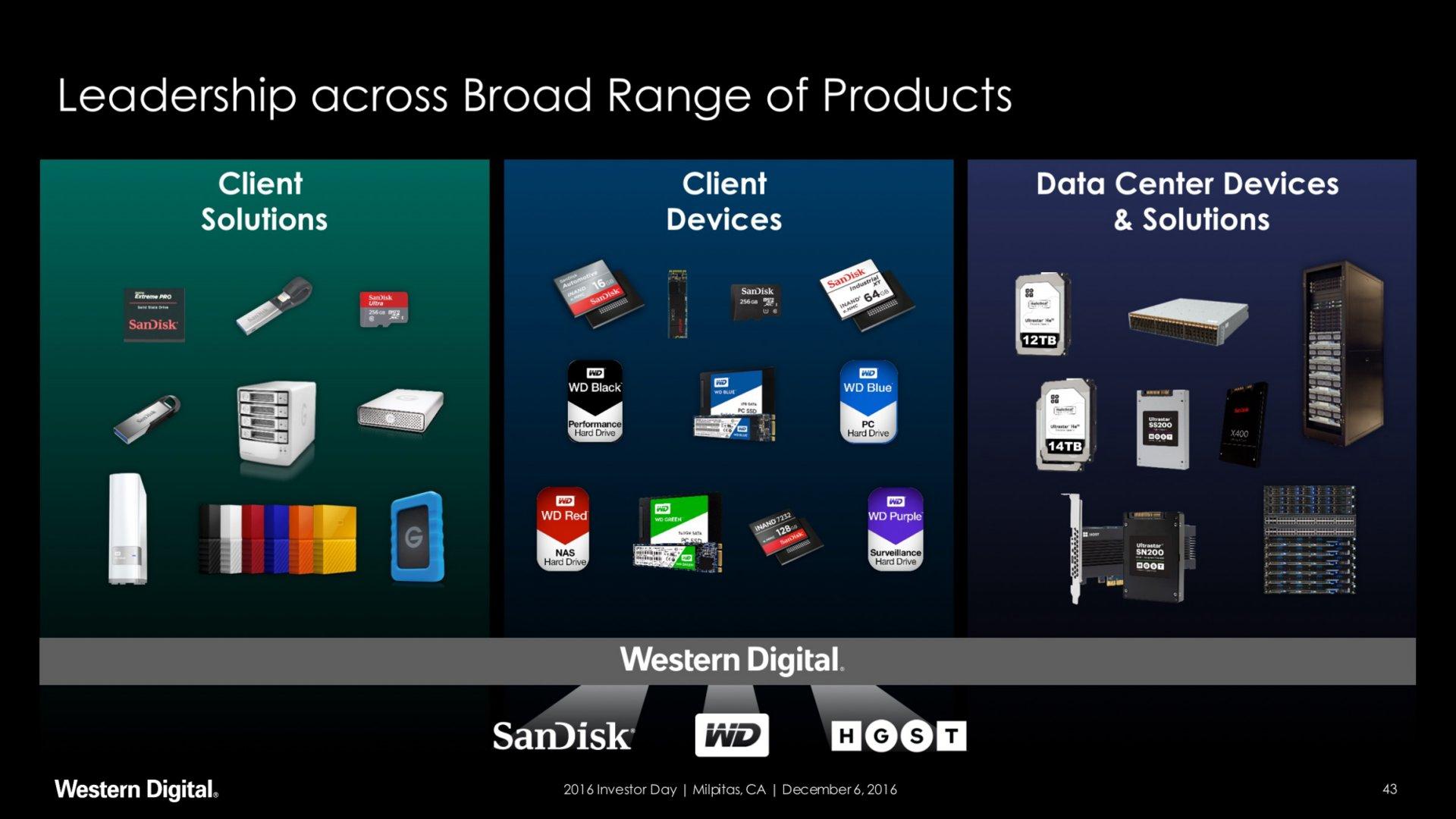 Markenvielfalt: HGST, SanDisk und WD