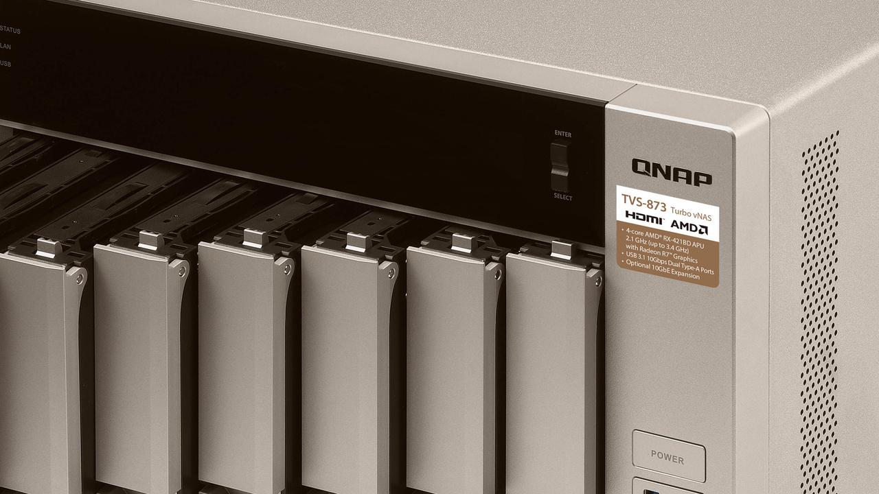 QNAP TVS-x73: USB 3.1, M.2-Slots und viel RAM im NAS ab 1.000 Euro