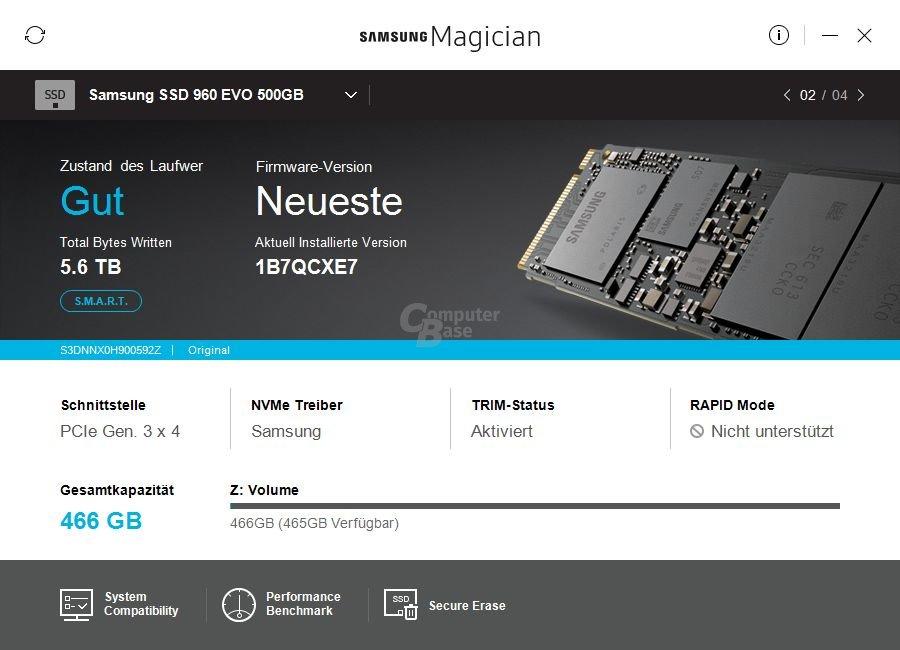 Samsung Magician 5.0 – Übersicht