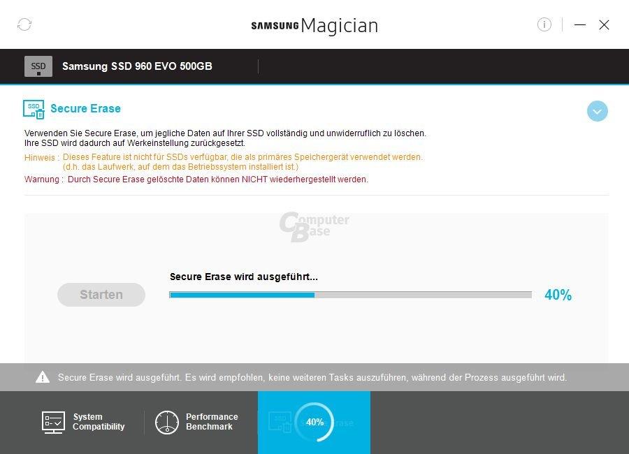 Samsung Magician 5.0 – Secure Erase