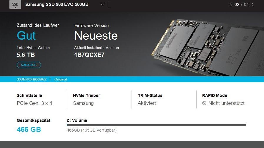 Samsung Magician 5.0: SSD-Tool mit neuer Oberfläche lässt Funktionen missen