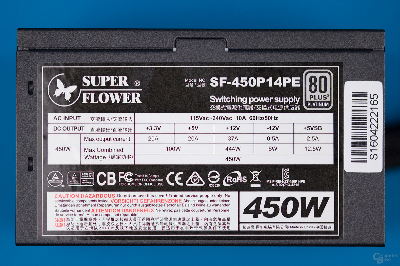 Super Flower Platinum King 450W