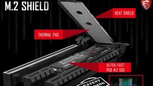 """M.2 Shield: MSI stattet Mainboards mit """"Hitzeschild"""" für M.2-SSDs aus"""