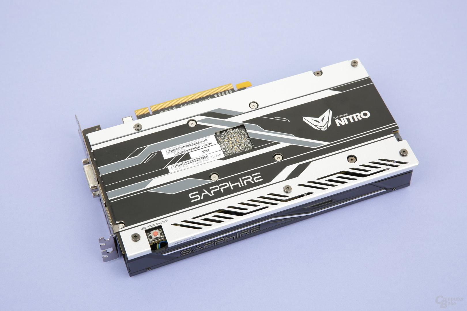Sapphire Radeon RX 480 Nitro+ OC – Rückseite
