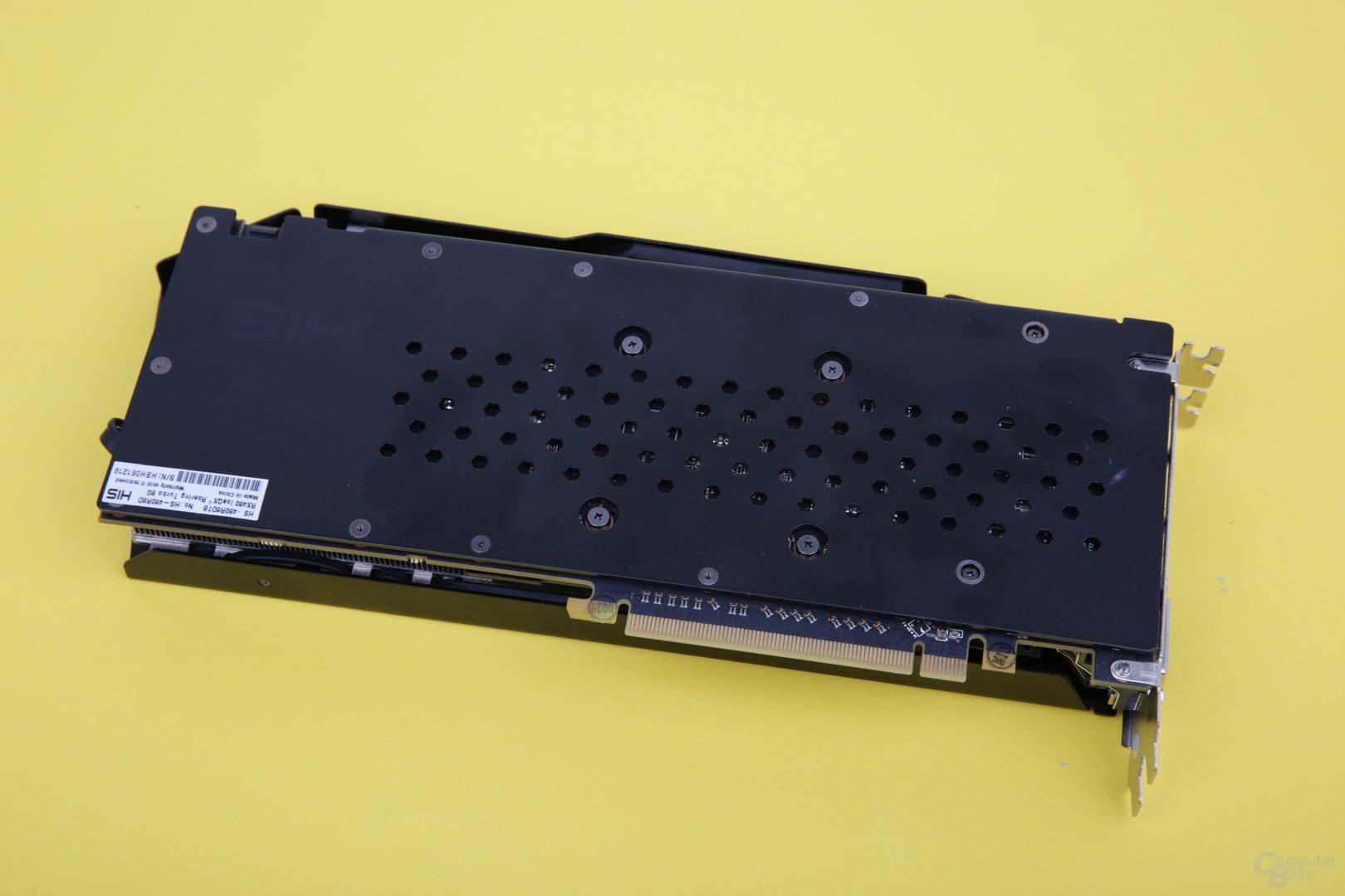 HIS Radeon RX 480 IceQ 2 OC – Rückseite