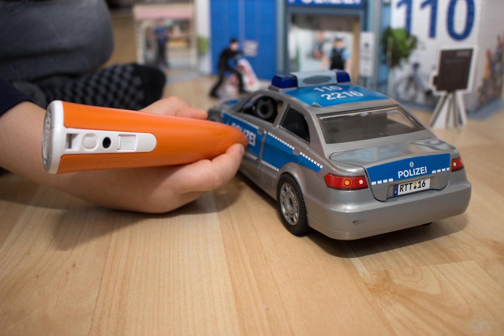 Das Polizeiauto mit viel Wissenswertem