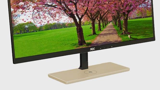 AOC P2779VC: Qi-kompatibler Monitor lädt Smartphones kabellos