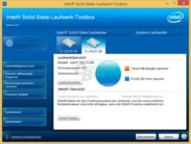 Intels Toolbox erkennt die 600p zwar