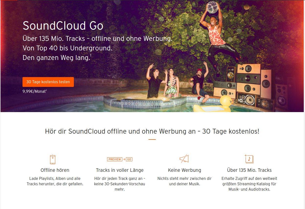 SoundCloud Go in der Übersicht